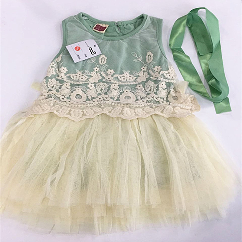 WENDYWU 2017 girl dress black and white cotton chiffon dress lace pattern three-layer yarn dress child mini dress fit 2-5y