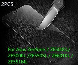 Image 2 - HATOLY 2 STUKS Gehard Glas voor Asus Zenfone 2 ZE500CL ZE500kl ZE550KL ZE601KL ZE551ML Scherm Bril Clear Beschermende Film