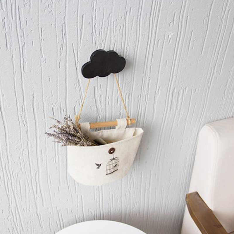 1 комплект Банни/борода/Облако настенные навесные крючки DIY деревянная вешалка настенная наклейка для детской комнаты принадлежности