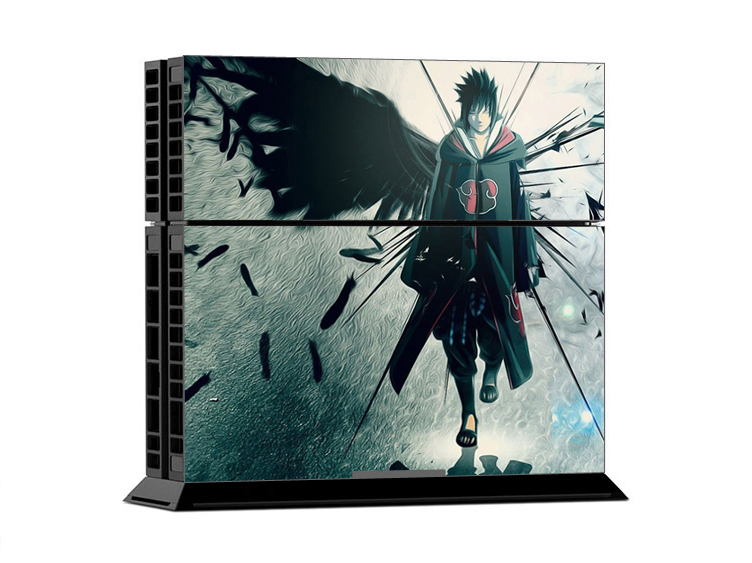 NARUTO Uchiha Sasuke Ps 4 skin Decal Skin Stickers For Playstation 4 PS4 Console + 2 Pcs For PS4 Controller PS4 Skin Controle