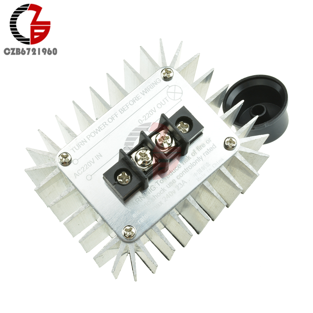 5000W SCR 220VAC Voltage Regulator Speed Controller Dimming Dimmers Thermostat
