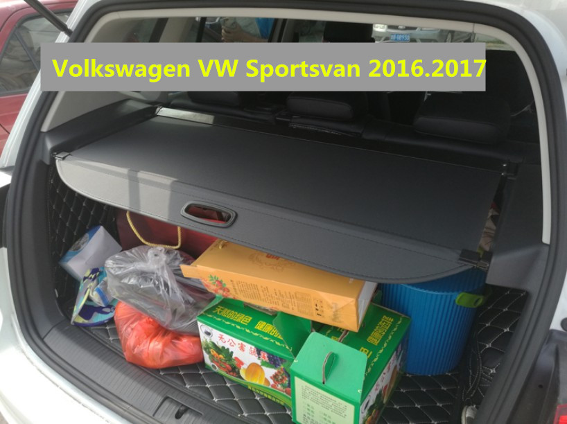 Car Rear Trunk Security Shield Cargo Cover For Volkswagen VW Sportsvan 2016.2017 High Qualit Black Beige Auto Accessories car rear trunk security shield shade cargo cover for toyota highlander 2009 2010 2011 2012 2013 2014 2015 2016 2017 black beige