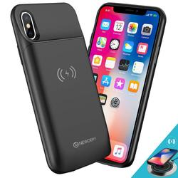Caso sem fio da bateria para o iphone x xs xr xs max 11 pro caso da bateria qi de carregamento sem fio caso de energia para o iphone 11 11 pro max