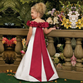 High Quality Brief Vestidos de Comunion Boat Neck A-line Big Red Sash Holy Communion Dresses Christmas Little Girl Gowns 2-12 Y