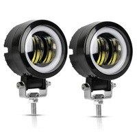 Yait 20 Вт 3 дюймов Водонепроницаемый IP67 гало кольца рабтает свет светодиодный световые панели точечный луч для вождения Offroad Лодка автомобиль ...