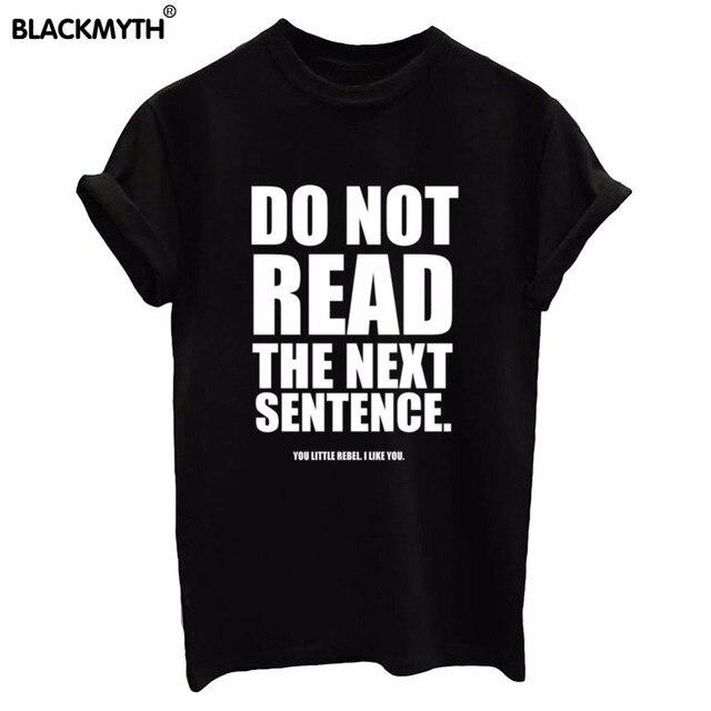 Não Ler A Frase Seguinte Letras Imprimir Branco Preto Das Mulheres