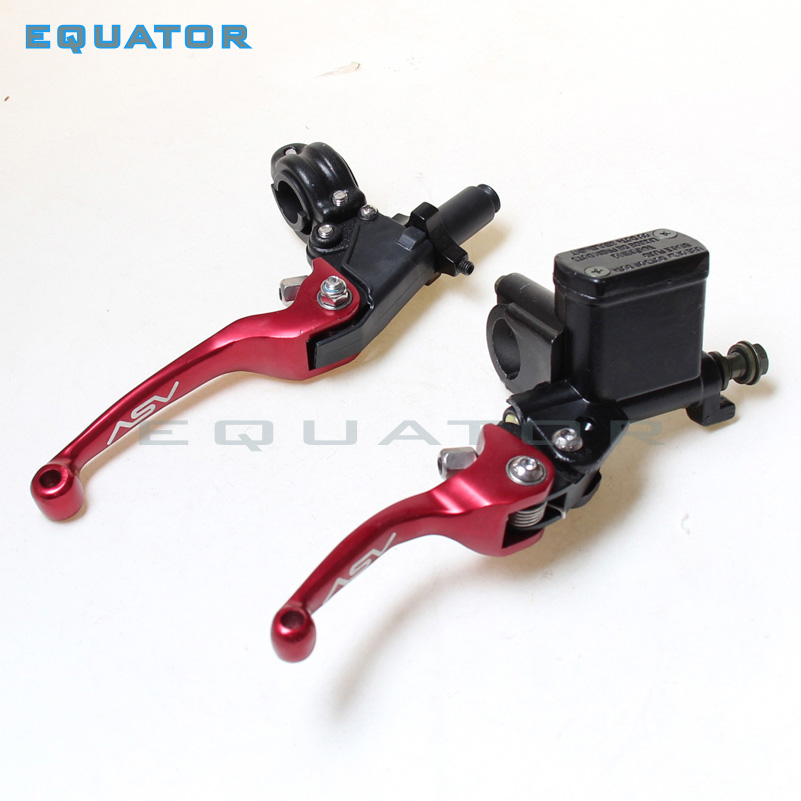 CNC folding brake lever clutch Lever with front pump Fit Most Motorcycle Dirt Pit Bike Motorcross CRF KLX YZF RMZ Refit Part for honda crf 250r 450r 2004 2006 crf 250x 450x 2004 2015 red motorcycle dirt bike off road cnc pivot brake clutch lever