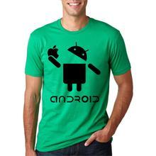 Men's Android Creative Novetly T Shirt Funny Design Letter Printed Short Sleeve Tees 2019 Summer Fashion Hip Hop Streetwear Tops