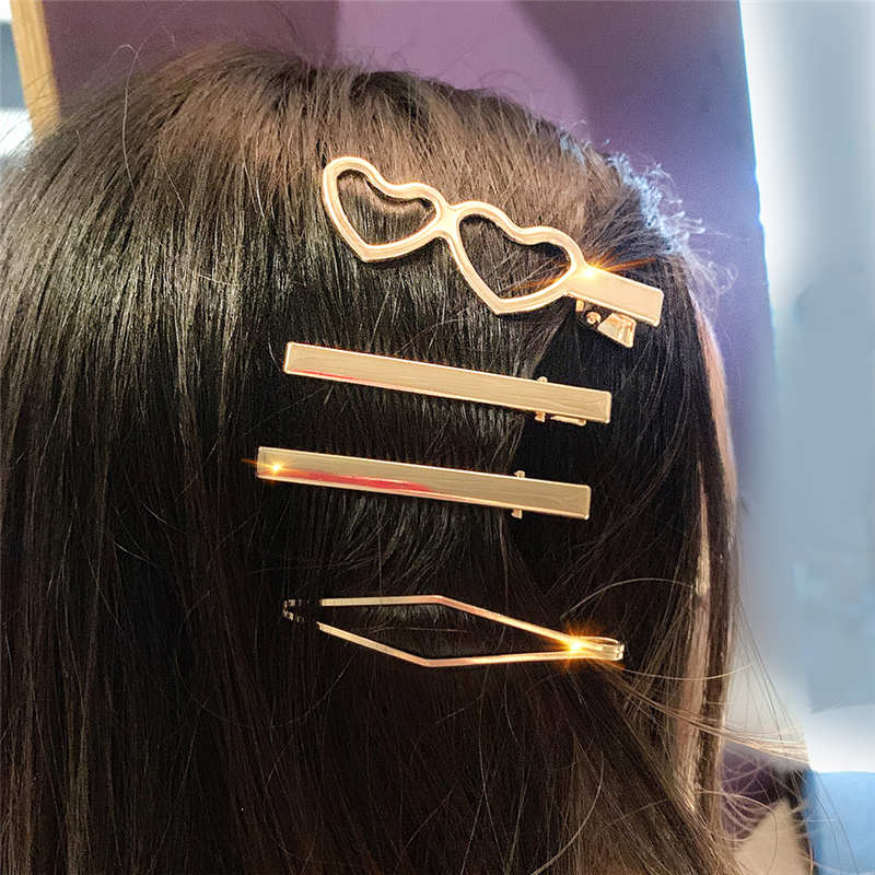Korean Pearl Hairpin Metal Headband Cute Comb Girl Hairpin Headwear Accessories Beauty Gift 2019 New Products 3pcs set in Hair Jewelry from Jewelry Accessories