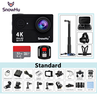 SnowHu H10 Action Camera H10 Ultra HD 4K 25fps WiFi 2 0 170D Underwater Waterproof Helmet