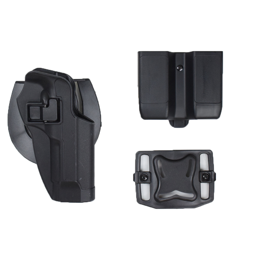 Tactical Pistol Holster Pistol Right Hand Belt Gun Holster + Double Magazine Pouch for Beretta 92 96 M9 image