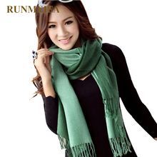 [RUNMEIFA]Wholesale 2019 Fashion Winter Women Pashmina Cashmere Gradual color Scarf