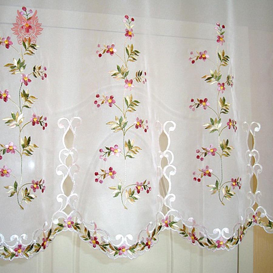 2016 New fashion floral stickerei spitze halbhülse vorhang erker ...