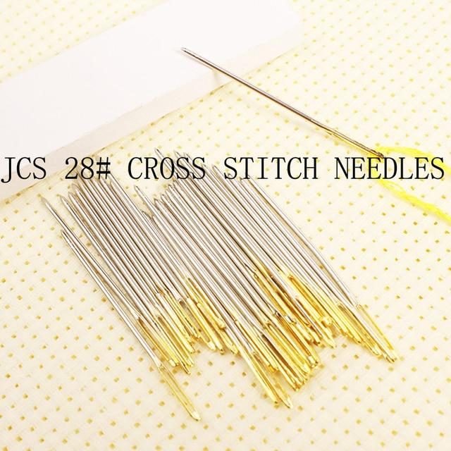 Оптовая продажа аксессуары для вышивки крестом иглы, вышивка иглы 28 #26 #24 #22 # 18CT 16CT 14CT 11CT 9CT BO