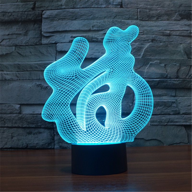 Gift-Lamp Led-Toys 3d-Light Christmas-Gift 7-Colors Visual-Decorative Foreign Touch Trade