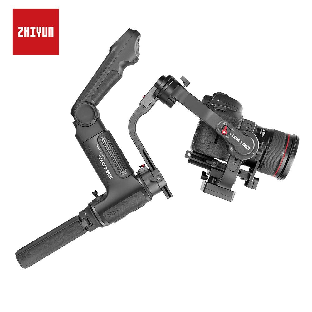 ZHIYUN Novo Guindaste 3 LABORATÓRIO 3-eixo Cardan Handheld 4.5 KG com Follow Focus para Canon/Sony/ panasonic/NIKON Câmera DSLR Estabilizador