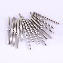 100 Pieces / Bag DIY Test Spring Positioning Pin 47mm Round Head Cylindrical Nickel Plating Thimble