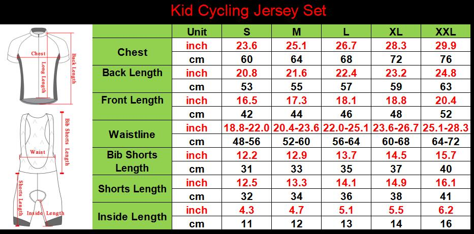Kid cycling jersey