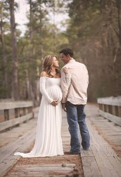 Women White Red Skirt Maternity Photography Props Elegant Pregnancy Clothes Maternity Dresses For pregnant Photo Shoot Clothing