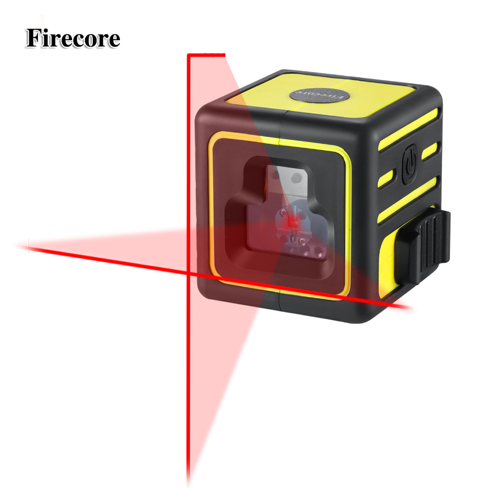 Firecore 212A 2 Lines Laser Level Red Cross Lines Self-leveling Horizontal and Vertical Cross-Line Mini Size firecore a8826d 2 lines laser level 1v1h1d cross self leveling red beam laser 0 28m tripod