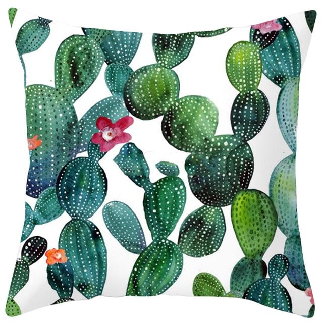 Cactus Foglia di Palma Verde Foglie di Piante Tropicali Fodere per Cuscini s Fio