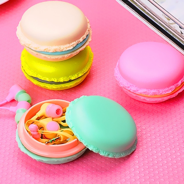 Kawaii Cute Mini Girl in-ear 3.5mm Macaroon Earphone for Apple IPhone 5 5s 6 6s plus for Xiaomi SONY MP3 MP4 Gift Earphones
