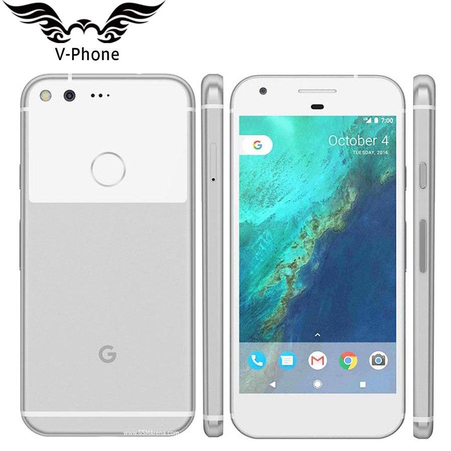 Marca Original nuevo versión Google Pixel 32 GB 128 GB teléfono móvil 5,0 Snapdragon Quad Core 4G LTE Android 4 GB RAM teléfono inteligente