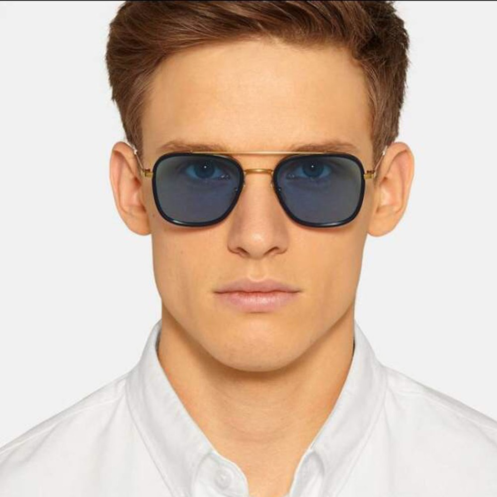 Aviator sunglasses for small face - 2016 Sunglasses Men Newest Brand Designer Small Square Mirror Lens Metal Frame Unisex Sun Glasses Oculos