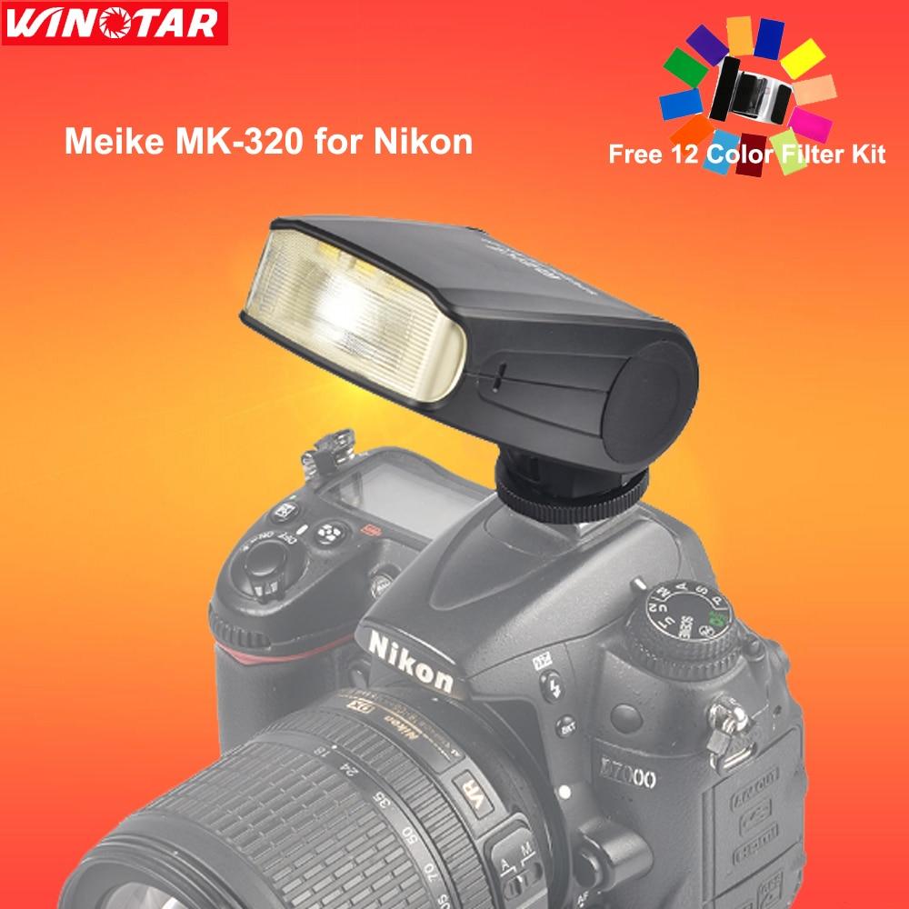Meike MK320N I-TTL HSS Master FLash Speedlite MK-320 for Nikon D7200 D7100 D5300 D5600 D5200 D3300 D3200 D3100 D750 D810 D5500 meike mk 910 mk910 i ttl 1 8000s hss sync master