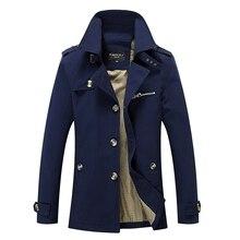 Chaqueta de los hombres capa de la chaqueta de primavera y otoño chaqueta de los hombres ocasionales lavados abrigos largos ropa de abrigo para hombre de algodón chaquetas de invierno abajo parka