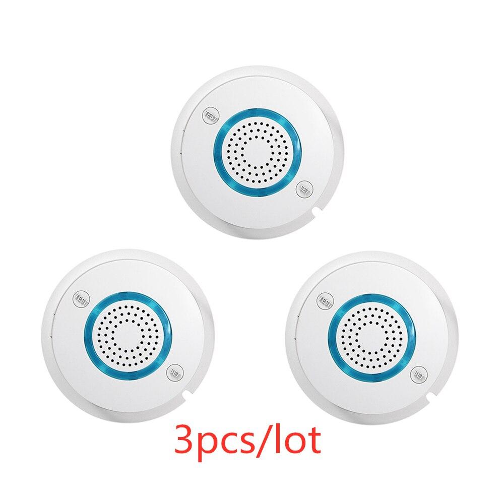 3 pçs/lote PGST WI-FI de Alta Qualidade Independente Detector de Fumaça de Alarme SIM Card SMS Auto Alarme de Fumo de Incêndio Sensor Sensível para Casa