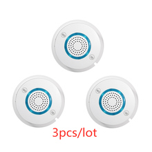 3pcs/lot PGST 433MHz Wireless Fire Sensor Smoke Detector For WIFI GSM Auto Dial alarm Systems office home security Alarm Systems