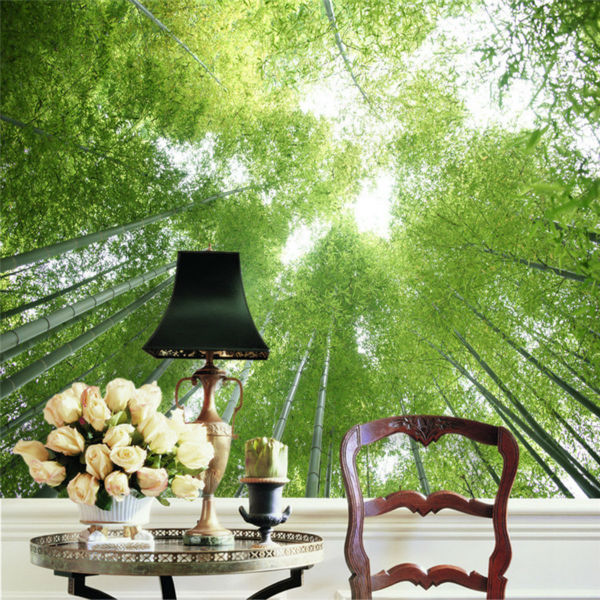 Custom Photo Wallpaper Bamboo Forest Wallpaper Natural Scenery Wall Mural  Girls Bedroom Hallway Room Decor Green ... Part 98