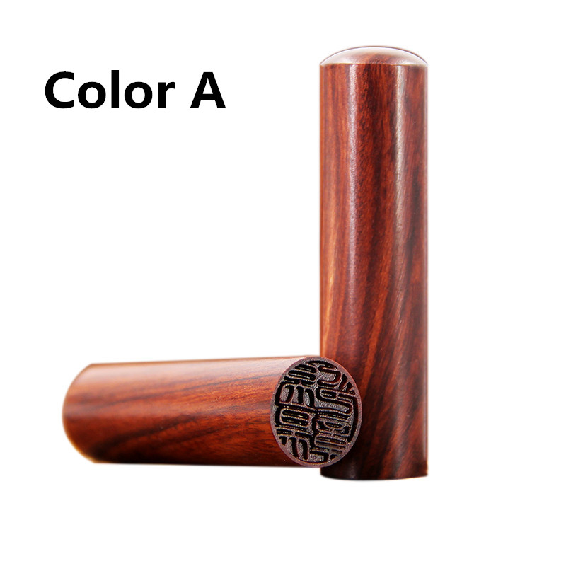 Image 3 - Free Carving Padauk Wooden Seal Calligraphy Round Seal Name Stamp Xian Zhang,Needle Carving-in Stationery Stickers from Office & School Supplies