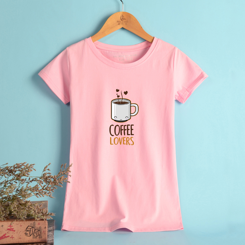 BTS COFFEE LOVERS T Shirt Women Plus Size 4xl Comfortable Elastic New  European Style Cool Fashion Funny Tee Shirt Women Cute-in T-Shirts from  Women s ... b34d60ac7404