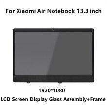 13.3 cal dla Xiao mi mi notebook air IPS wyświetlacz led szkło matrycowe montaż + rama LQ133M1JW15 N133HCE GP1 LTN133HL09