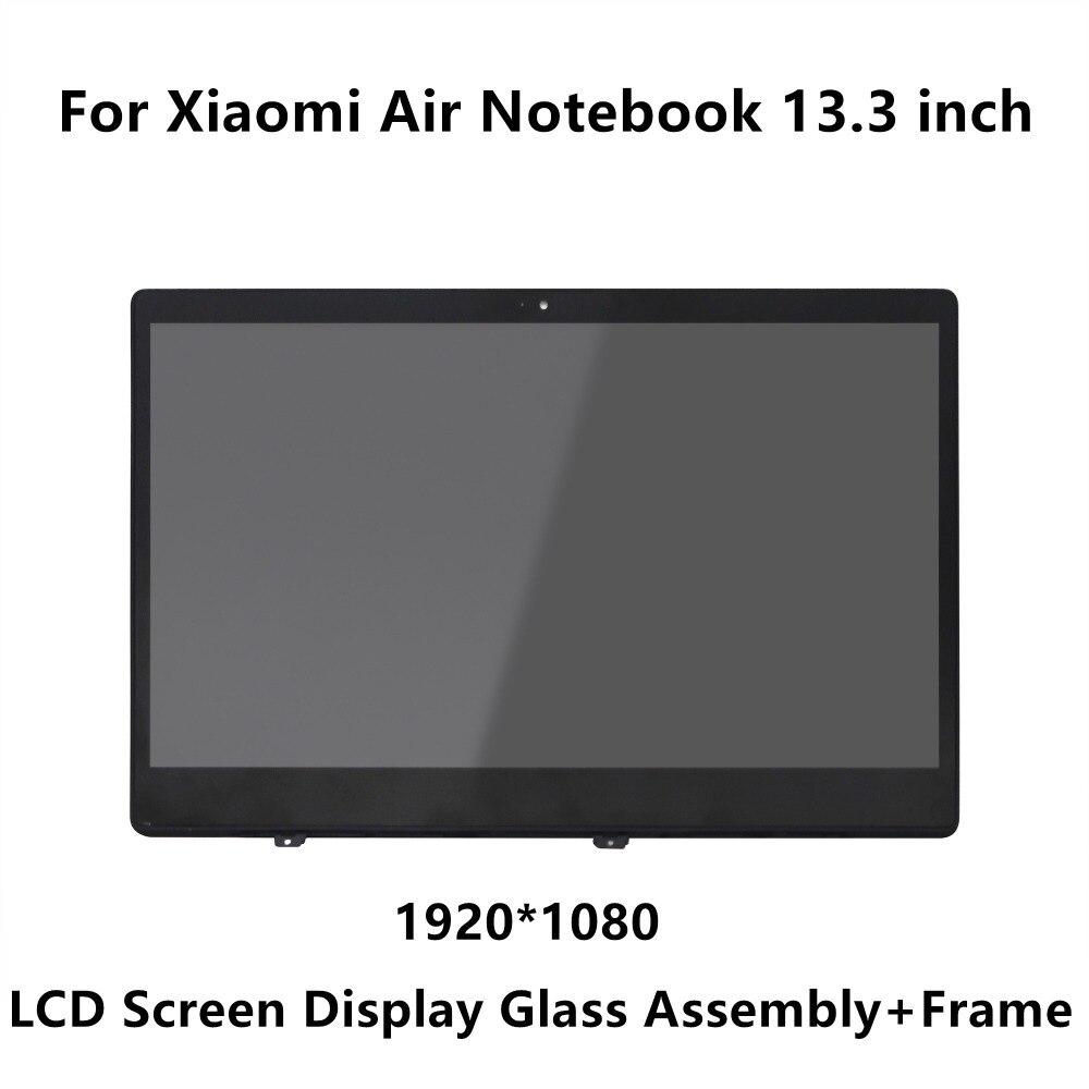 13.3 pouces Pour Xiao mi mi Portable Air IPS LCD Écran LED Affichage Matrice Assemblée Verre + Cadre LQ133M1JW15 N133HCE-GP1 LTN133HL09