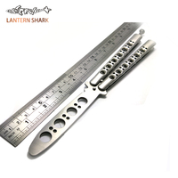 Butterfly In Knife Titanium Coated Training Folding Knife Butterfly Not Sharp Free Butterfly Knife White Balisong