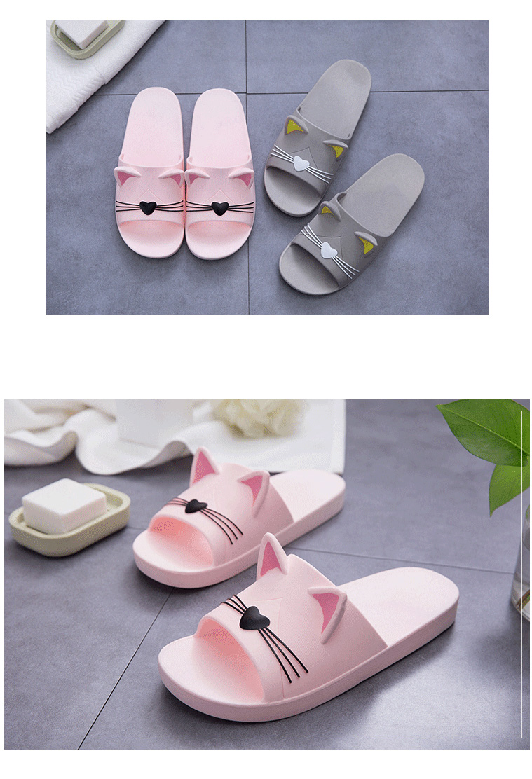 Cute Cat Ear Flipflop Slippers Sandals