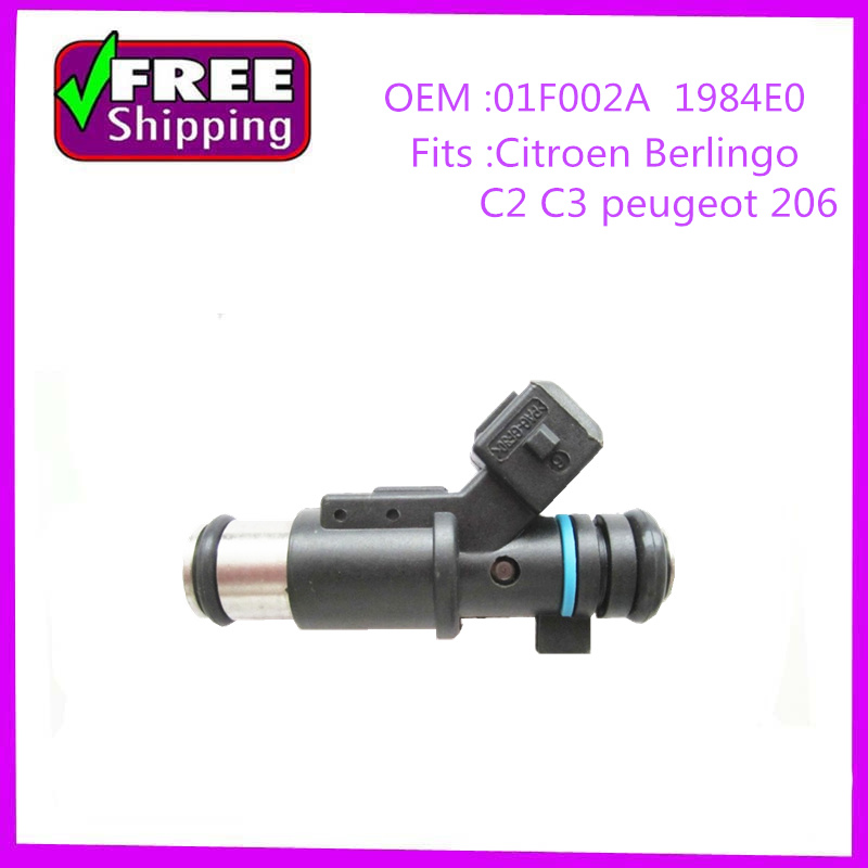 Haute qualité Injecteur de Carburant oem 01F002A 1984E0 pour Citroen C2 C3 Saxo Xsara Berlingo Peugeot 206 307 1007 Partenaire 1.4