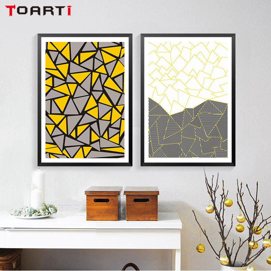 Creative Geometry Graph Canvas Painting Wall Decor Abstract Colorful Pattern Wall Picture For Living Room Kids Room Decoration in Painting Calligraphy from Home Garden