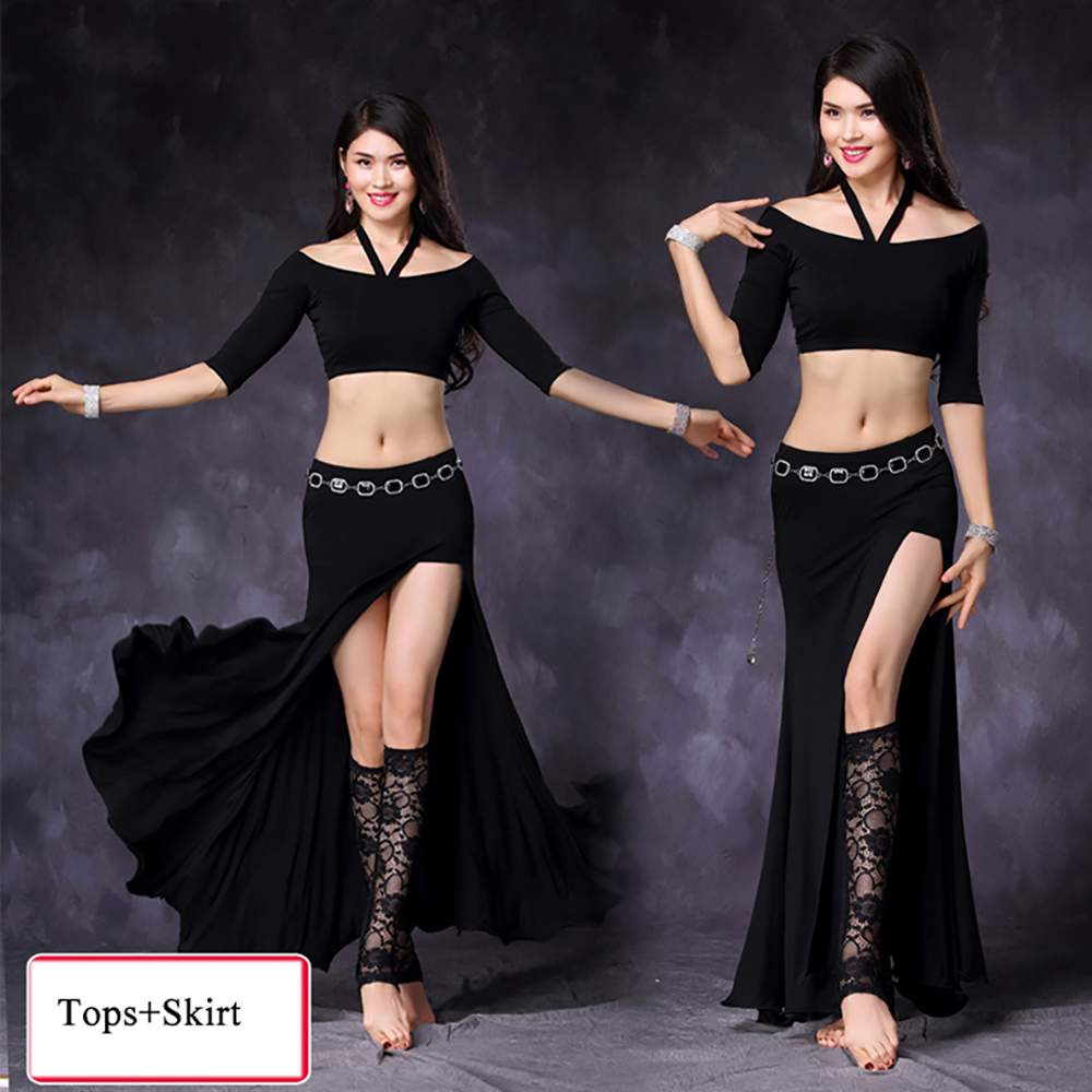Cheap Belly Dance Suits For Ladies Black Red Green Purple Good Quality Modal Clothes Professional Women