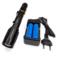 5000 Lumens Super Strong Flashlight Waterproof Zoomable 5 Mode XML T6 Led Torch Light Lamp 18650