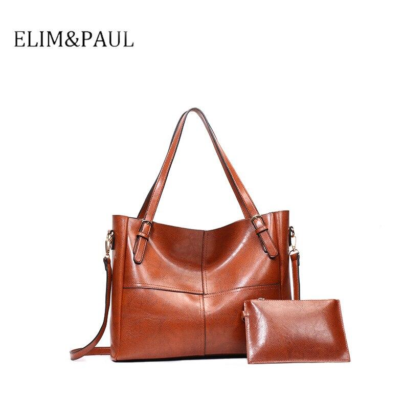 Femmes en cuir sac à main de luxe sacs à main femmes sac Designer célèbre marque huile cire haute qualité 2018 Vintage fourre-tout sac chine C824