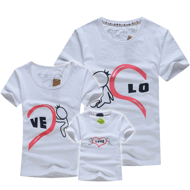 Mother & Kids Family Matching Outfits T-shirt Summer Clothes Cotton Elastic Fabric Graffiti Colorful Active Leisure Kids Clothes