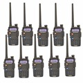 10 PCS Baofeng UV-5RC For Police Walkie-Talkie Scanner Radio Dual Band Cb Ham Radio Transceiver UHF 400-470MHz & VHF 136-174MHz