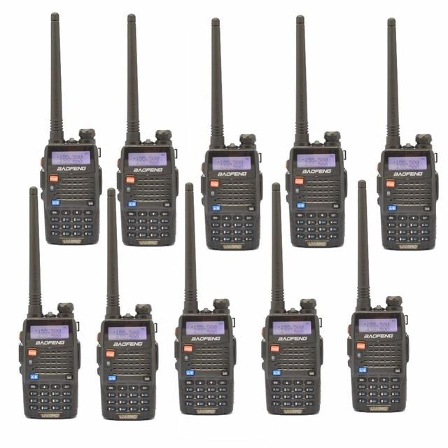 10 PCS Baofeng UV-5RC For Police Walkie-Talkie Scanner Radio Dual Band Cb Ham Radio Transceiver UHF 400-470MHz & VHF 136-174MHz