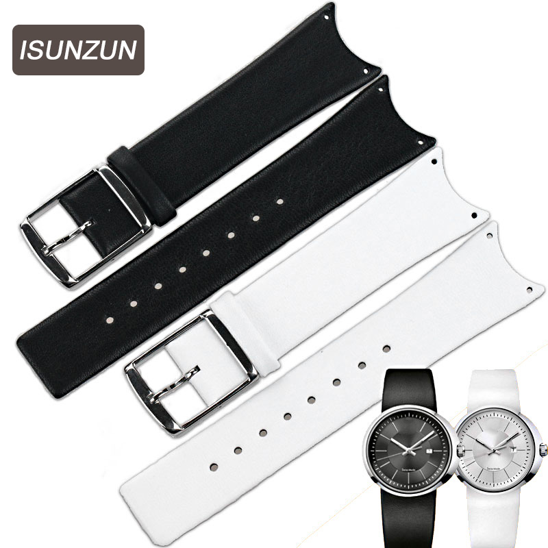 ISUNZUN Watchband For CK KOH23100/K0H23307 First Layer Genuine Leather Watch Band K0H23101/KOV231 Women And Men Watch Strap часы other koh23300 k0h23307 k0h23101 kov231
