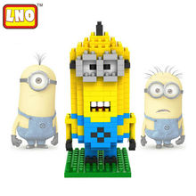 LNO Minions  blocks ego legoe star wars duplo lepin toys stickers playmobil castle starwars orbeez figure doll car brick