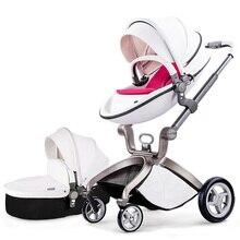 Maman chaude marque bébé poussettes 2 en 1 bébé de voiture de haute qualité avec bébé qui dort panier et siège de voiture 3 couleurs envoyer coussin livraison